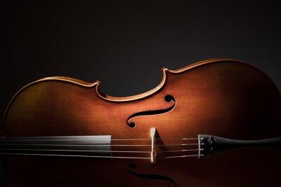 Plakát Cello silueta