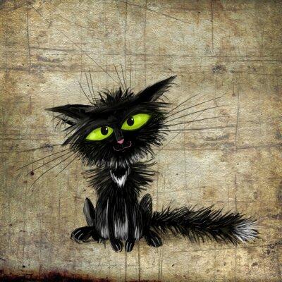 Plakát Černá kočka