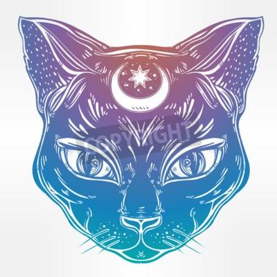 Černá kočička tetování