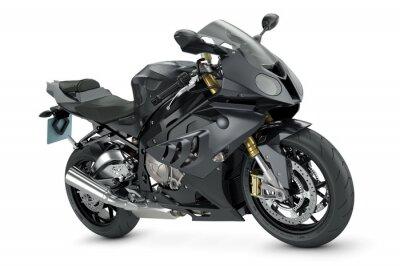 Plakát Černá sportovní motocykl