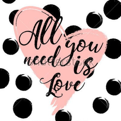 Plakát černé a bílé pruhované pozadí se zlatým akvarelem srdce. Ruční hračky písmo - to vše, co je láska. design pro dovolenou pozdrav a pozvánku na svatbu, Happy Valentine's Day