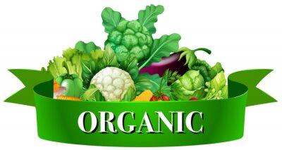 Plakát Čerstvá zelenina s praporem