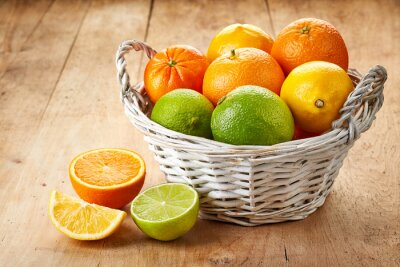 Plakát Čerstvé citrusové plody
