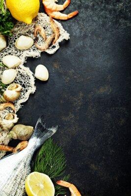 Plakát Čerstvé mořské plody