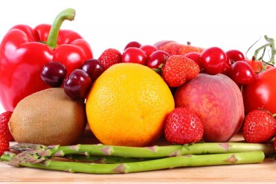 Plakát Čerstvé ovoce a zelenina, zdravá výživa