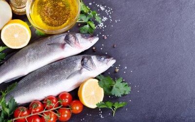 Plakát čerstvé ryby mořský okoun