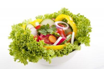 Plakát čerstvým zdravým salát s míchanou zeleninou