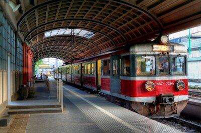 Plakát červený vlak