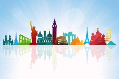 Plakát Cestovní pozadí Skyline