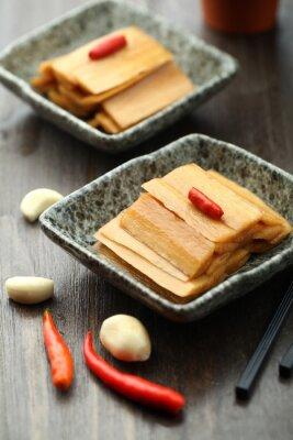 Plakát Čínská kuchyně podávané v omáčce desce