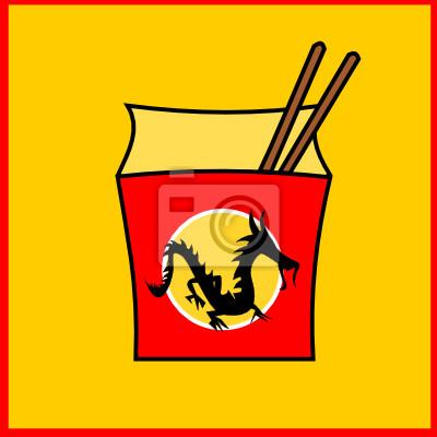 Plakát Čínský fastfood restaurace logo
