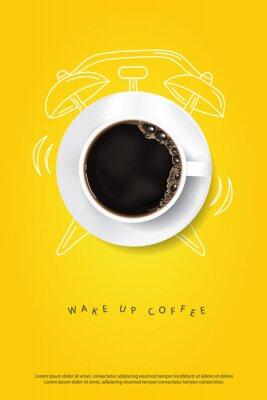 Plakát Coffee Poster Advertisement Flayers Vector Illustration
