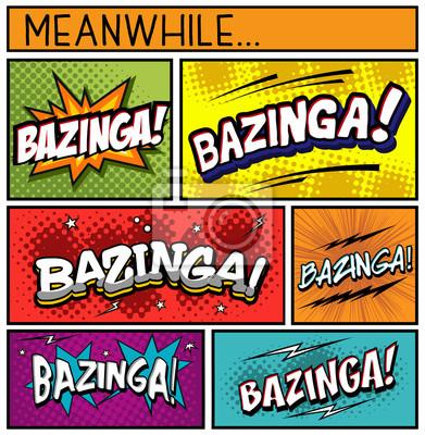 Plakát Comic Book Collection-Bazinga