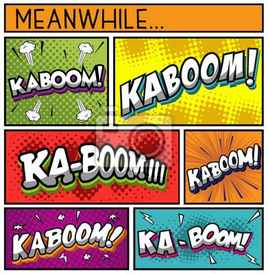 Plakát Comic Book Collection-KABOOM