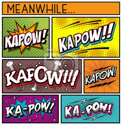 Plakát Comic Book Collection-Kapow