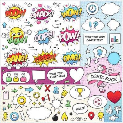 Plakát Comic Book Elements Vector balíček