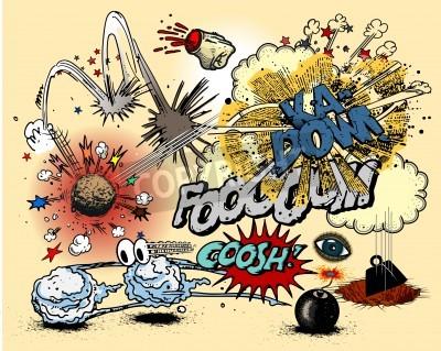 Plakát Comic book exploze