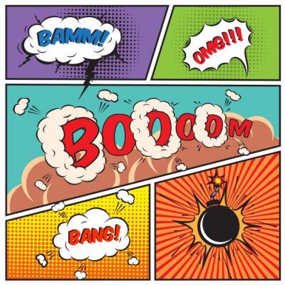 Plakát Comic bubliny