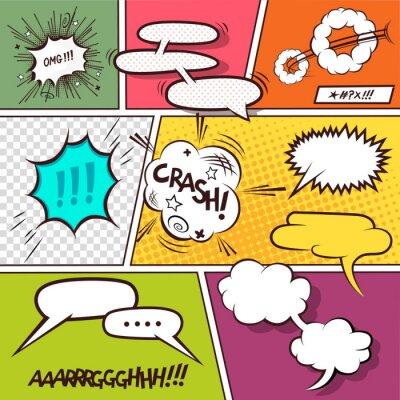 Plakát Comic řeči Bubbles
