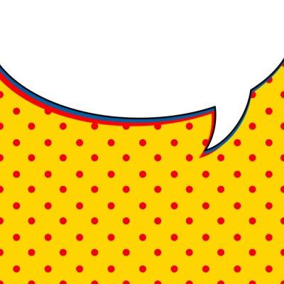 Plakát Comic řeči bublina na žlutém pozadí