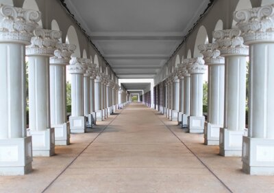 Plakát corridor with columns