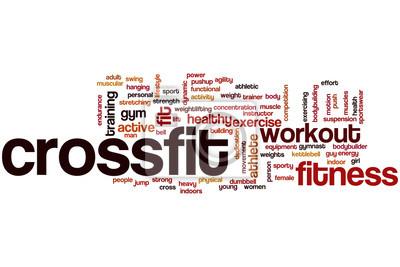 Plakát Crossfit slovo cloud