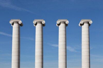 Plakát Čtyři pilíře, Barcelona
