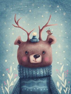 Plakát Cute brown bear