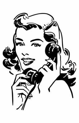 Plakát Cute Gal On The Phone