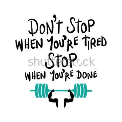 Plakát Cvičení tělocvična fitness kulturistika motivace koncept / vektor tisk design