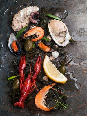 Plakát Delicious čerstvé plody moře