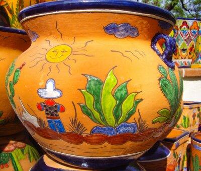 Plakát Desert vista design na mexické keramiky