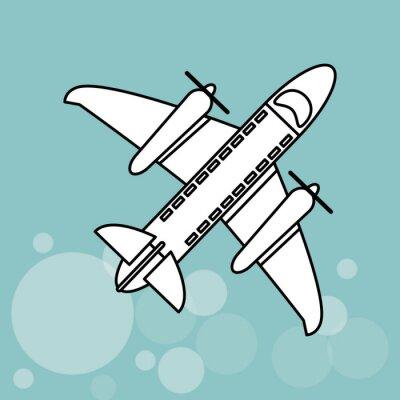 Plakát Design ikonou letadla