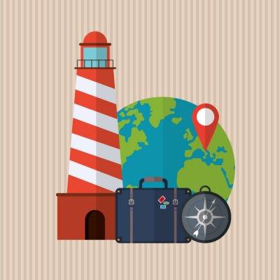 Plakát Design Travel icon