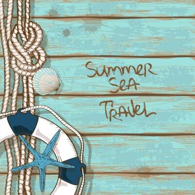 Plakát Desky na palubě lodi pozadí
