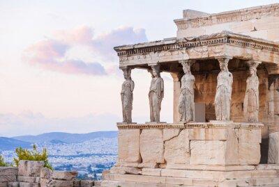 Plakát Detail Erechtheion do Akropole v Aténách, Řecko