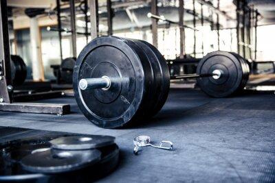 Plakát Detailním obraz fitness zařízení