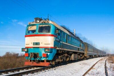 Plakát Diesel místní vlak na Ukrajině.