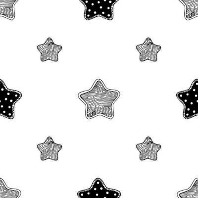 Plakát Dřevěné hvězdy vzor 3