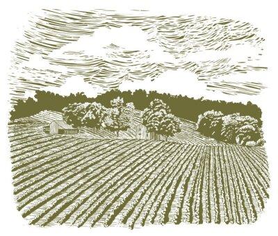 Plakát Dřevoryt Farm na silnici 60