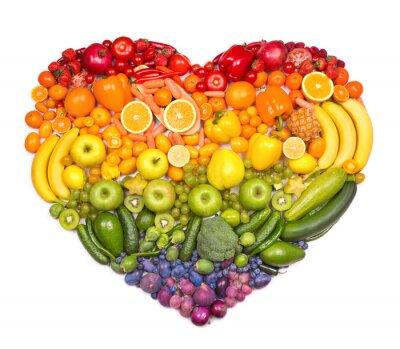 Plakát Duha srdce ovoce a zeleniny