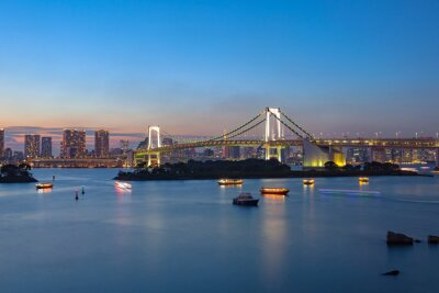 Plakát Duhový most Odaiba Tokio Japonsko důležitý cíl navštívit