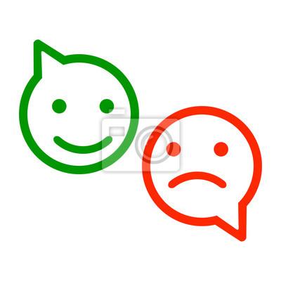 Dva Barevne Smajliky Smiley Emoce Smajliky Kreslene Emotikony