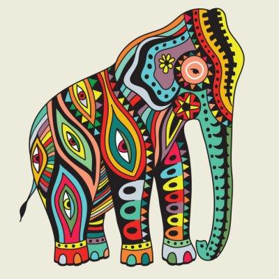 Plakát Elefant. vektorové ilustrace