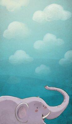 Plakát Elenfante con textura