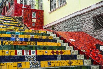 Plakát Escadaria Selaron, Rio de Janeiro, Brazílie