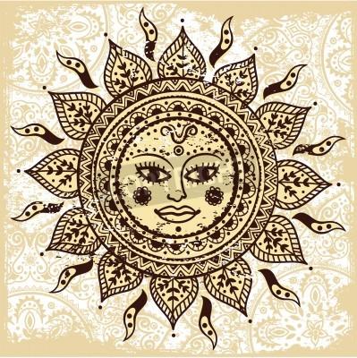 Plakát Ethnic ornamental sun