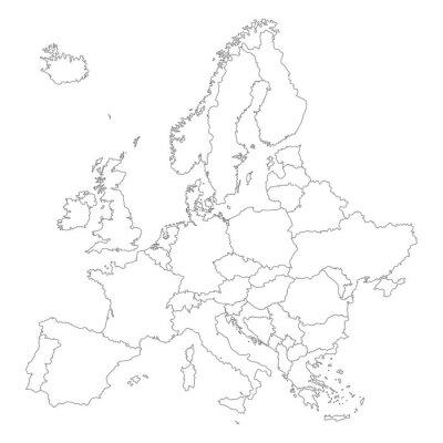 Plakát Europa v Weiß - Vektor (Hoher Detailgrad)