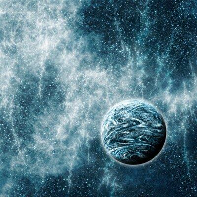 Plakát Extrasolární planeta v Warped prostor a čas kraje