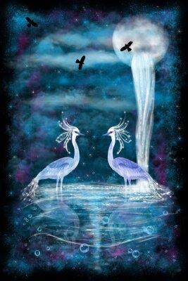 Plakát Fantasy dvě volavky